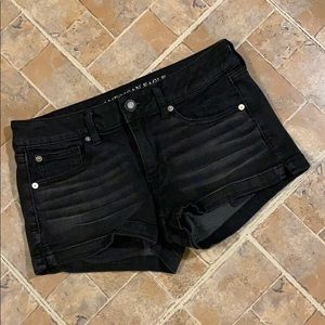 American Eagle black jean shorts size women's 8
